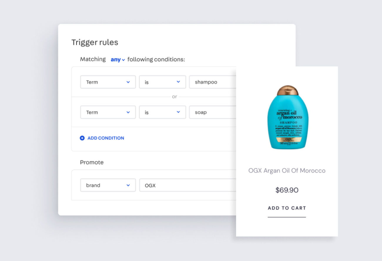 Trigger rules for Intelligent Search